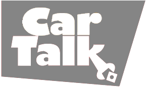 car talk logo in gray and white